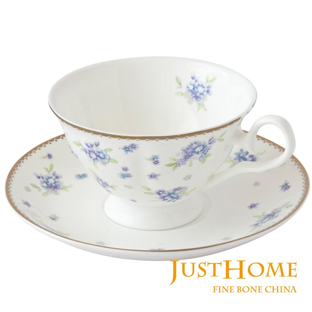 Just Home 麗芙莊園高級骨瓷2入咖啡杯盤組(附禮盒)