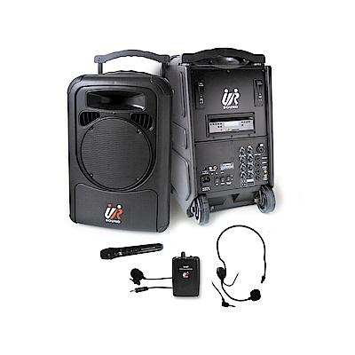 雙頻藍芽/CD/USB/SD移動式無線擴音機(一手一腰)  PA9223CDNB