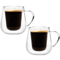IBILI 圓肚雙層玻璃杯2入(125ml)