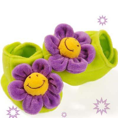 澳洲baby bow-紫花花鞋襪(0-6個月)