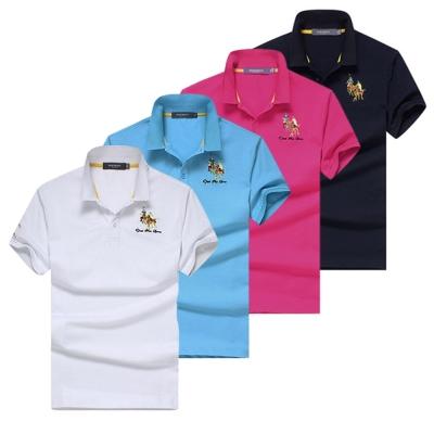 美國熊 專櫃質感 精流棉 萊卡圖騰徽章POLO衫