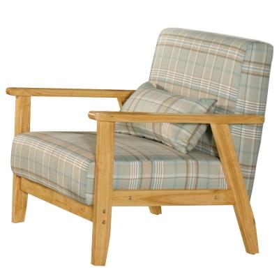 沙發 單人座 都克 實木布面沙發 品家居