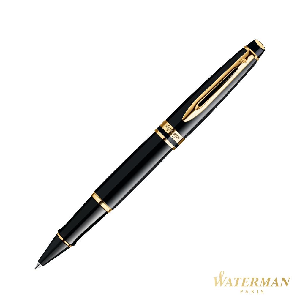 WATERMAN 權威系列 黑桿金夾 鋼珠筆