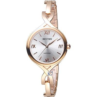 日本麗聲錶RHYTHM浪漫縷空手鍊錶(LE1608S04)-30mm