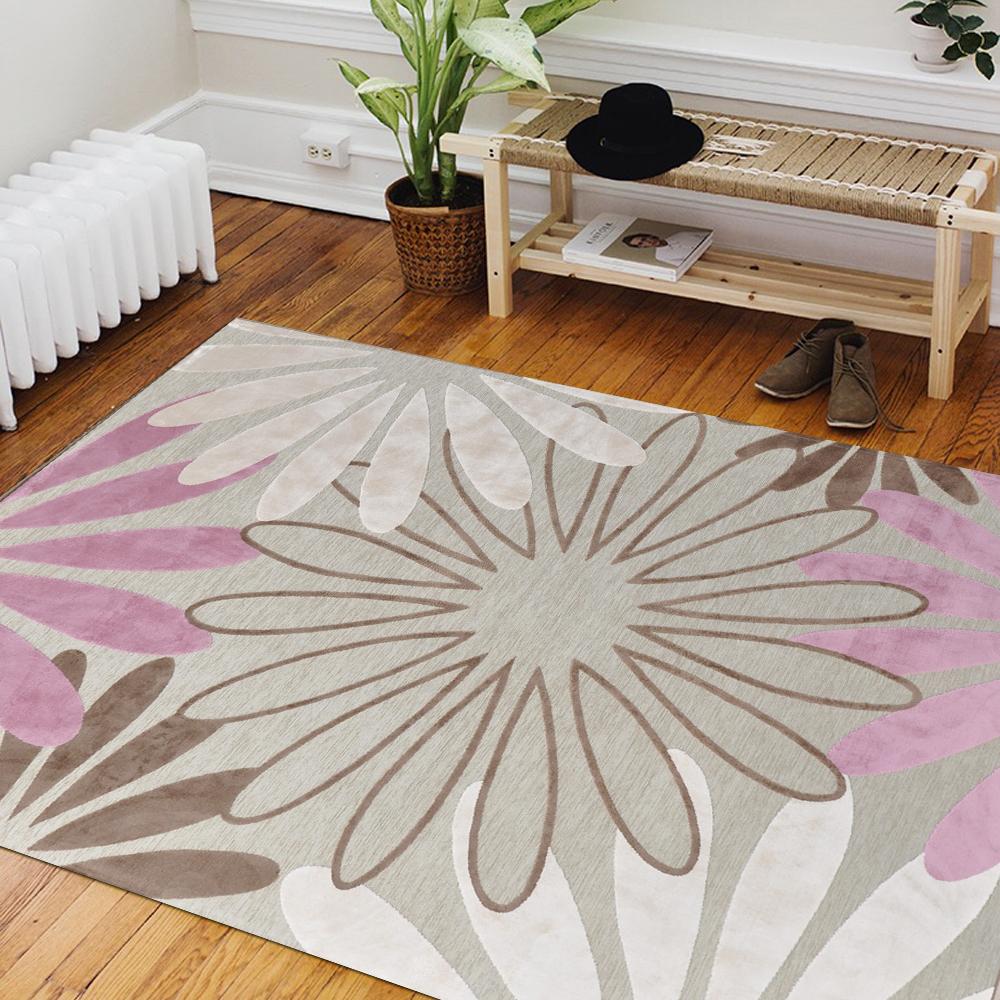 Ambience 比利時Valentine 玄關/床邊絲毯 -綻放 (68x110cm)