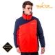 【hilltop山頂鳥】男款GoreTex防水2合1蓄熱羽絨外套F22MW6藍紅 product thumbnail 1