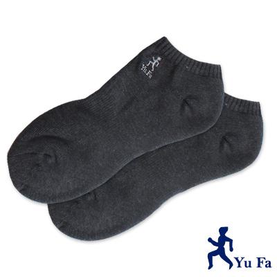 裕發 氣墊彈性運動船襪(深灰)