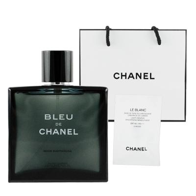 CHANEL香奈兒 藍色男性淡香水100ml 贈提袋及美妝小物