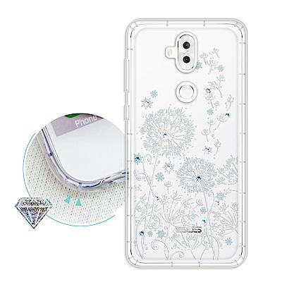 浪漫彩繪 ASUS ZenFone 5Q ZC600KL 水鑽空壓氣墊手機殼(風...