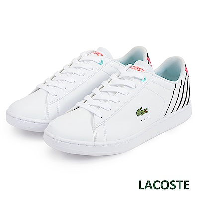LACOSTE 女用休閒鞋-白/粉
