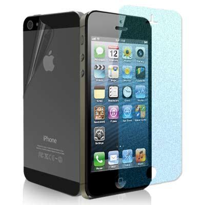 IPHONE 5/5S/SE 無紋防眩光抗刮霧面螢幕貼+機身背膜(贈邊條+布)