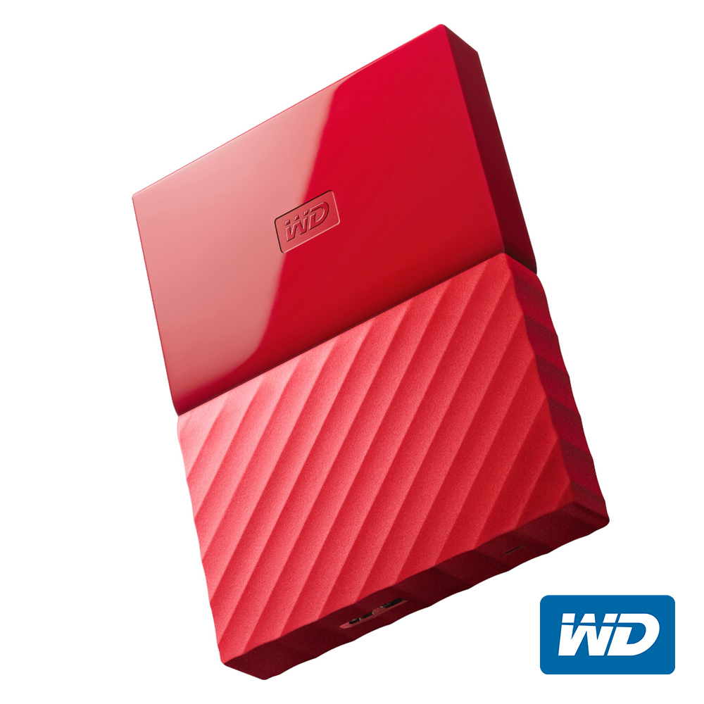 WD My Passport 2TB 2.5吋行動硬碟(紅色/薄型)