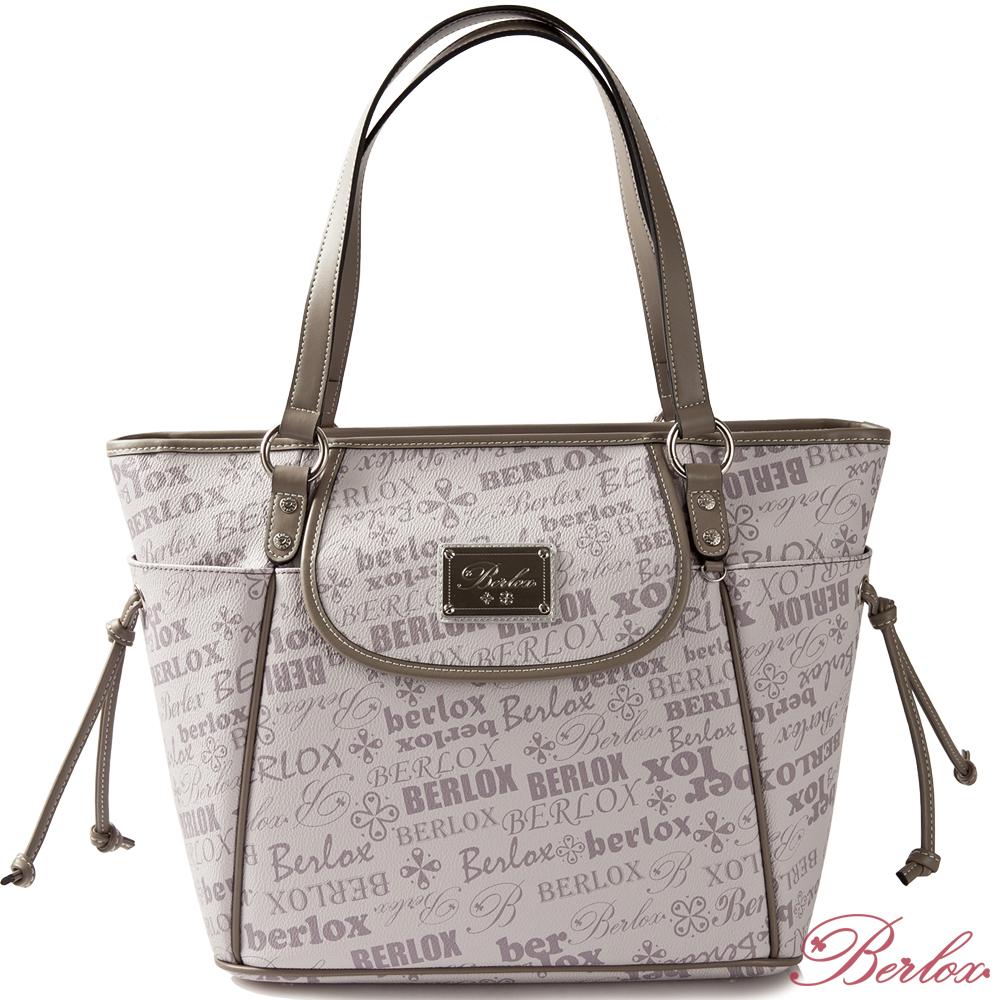 BERLOX寶黎思-創意發想前蓋肩揹購物袋-迷戀紫