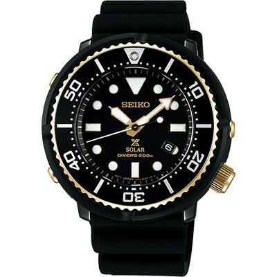 SEIKO 精工 Prospex SCUBA 鮪魚罐頭太陽能限量腕錶(SBDN028J)