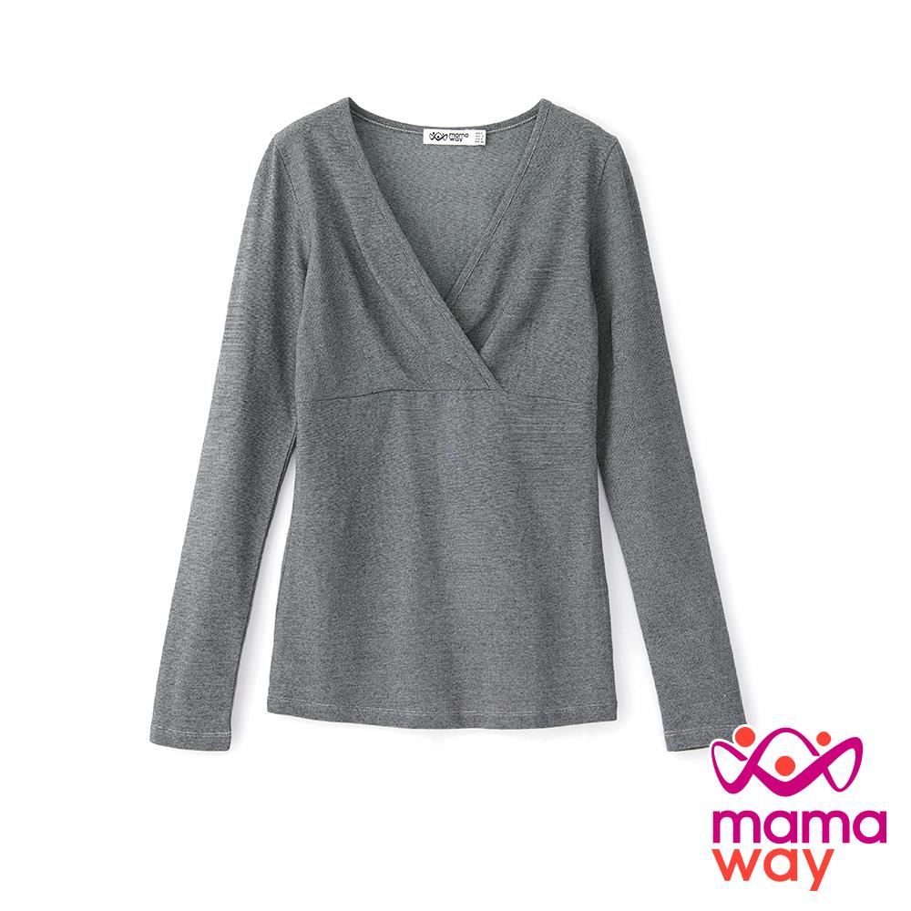 mamaway媽媽餵 蓄熱保溫孕哺衛生衣(共2色)
