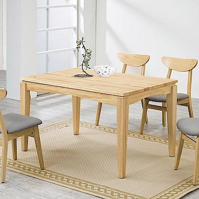 H&D 紐松木原木色長方桌 (寬130X深80X高76cm)