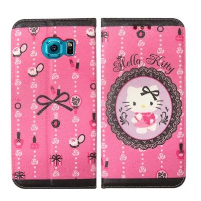 Hello Kitty 三星 Samsung S6 Edge 彩繪磁力皮套(法式...