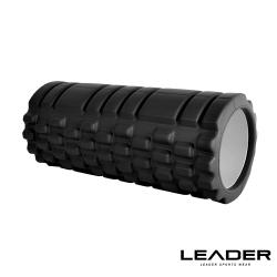 Leader X 專業塑身美體瑜珈棒 滾筒 按摩輪 黑色