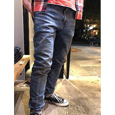 牛仔褲 男裝 510 中腰緊身窄管 復古刷白 - Levis