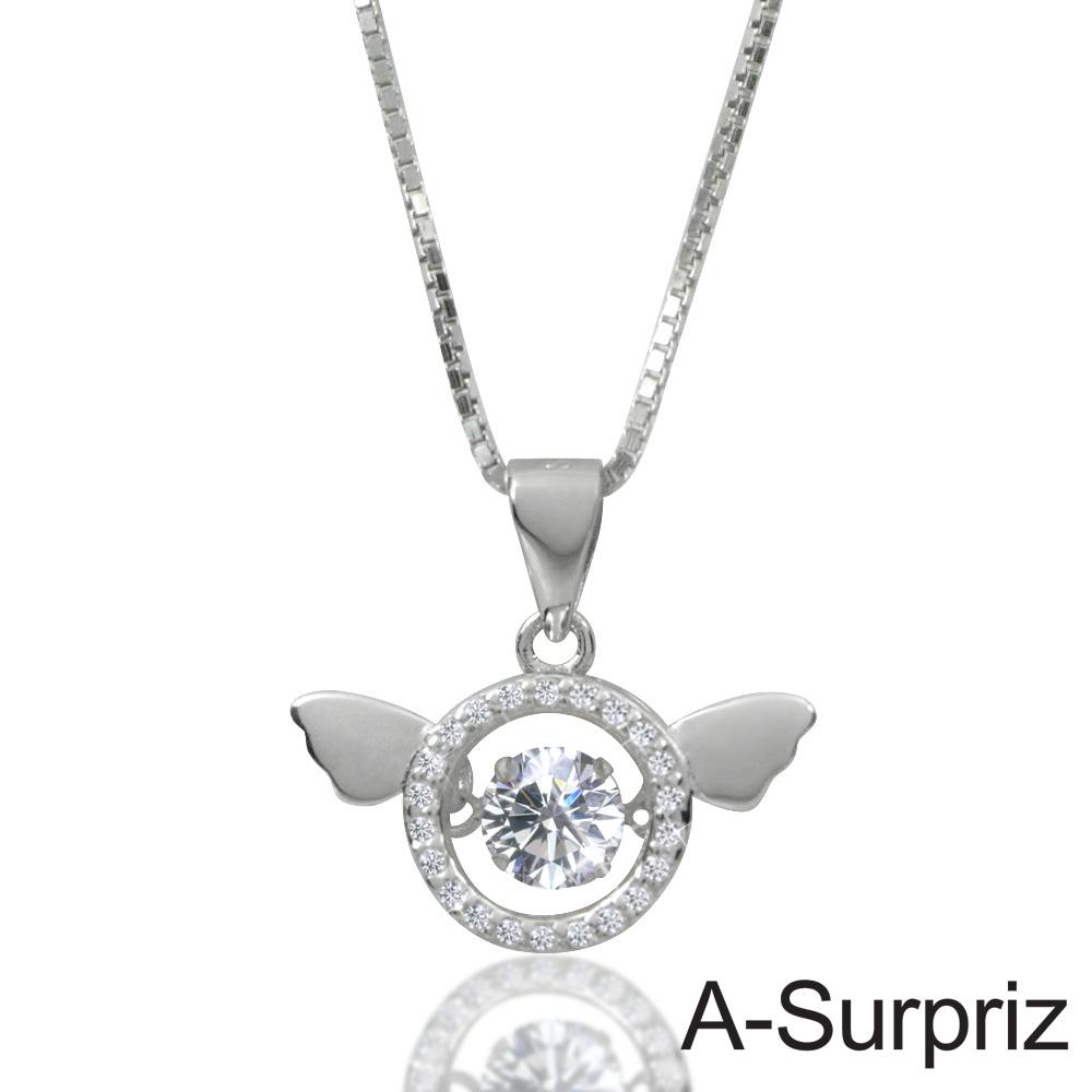 A-Surpriz 心動天使100%925銀八心八箭項鍊