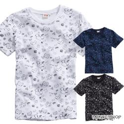 小猴子的賣場 MIT純棉男女情侶款滿版米奇手套潮流短袖T恤-3色