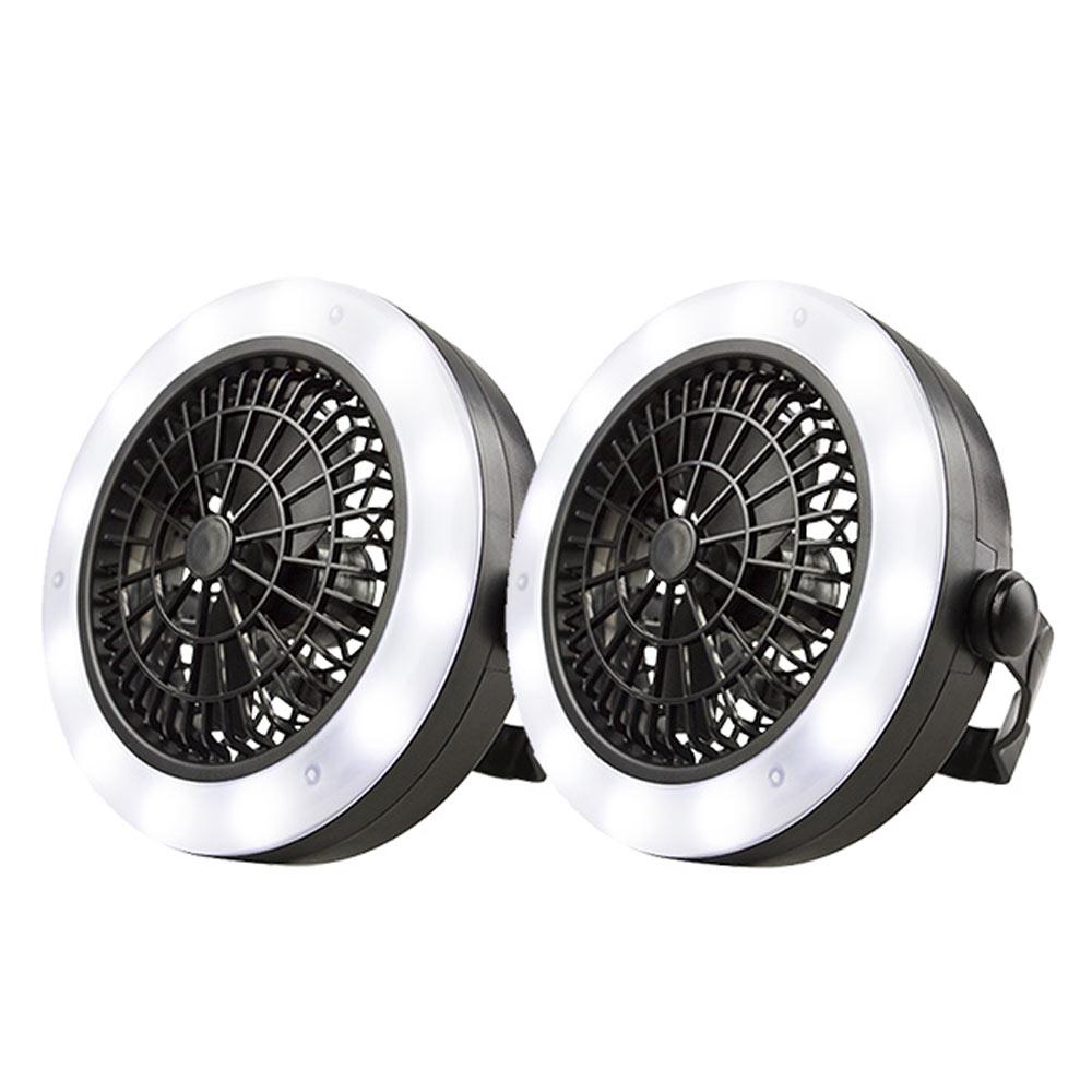(2入組)勳風 多功能露營燈LED手電筒/風扇(HF-B062U)電池/USB