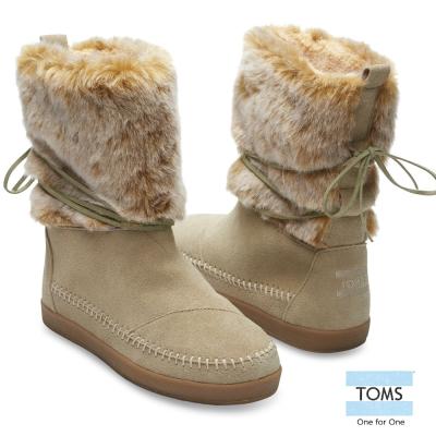 TOMS-尼泊爾毛絨雪靴-女款-棕
