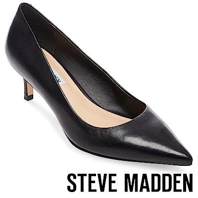 STEVE MADDEN-SABRINAH-素面尖頭中跟鞋-黑色