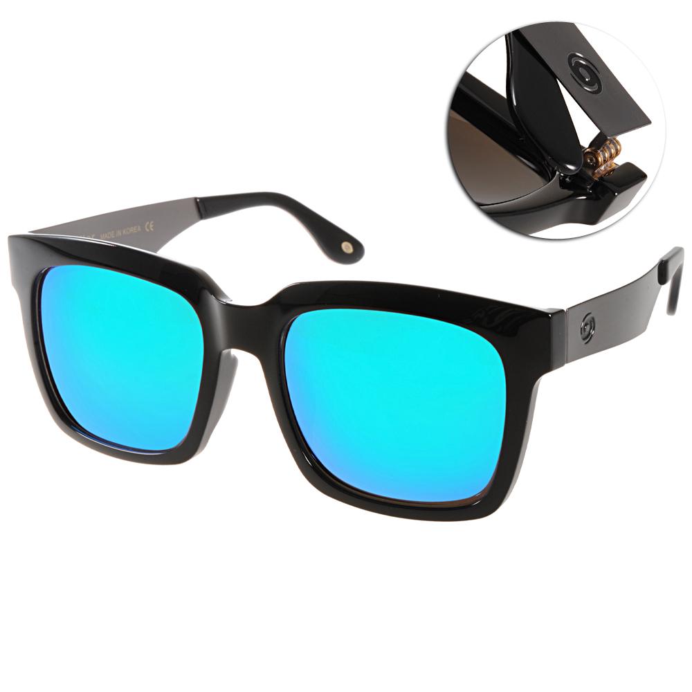 Go-Getter太陽眼鏡 個性方框/黑銀-水銀藍#GS4008 09