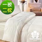 日本濱川佐櫻-品味緹花 雙人台灣精製天然羽絲絨被(含2枕)