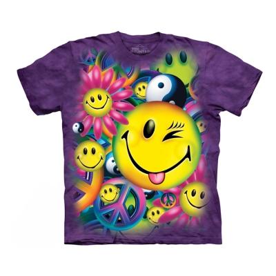 摩達客 美國進口The Mountain 和平與笑臉 純棉環保短袖T恤