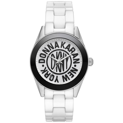 DKNY 品牌25周年限量陶瓷腕錶-白/36mm