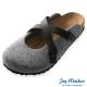Joy Walker 經典交叉包頭拖鞋*黑灰 product thumbnail 1