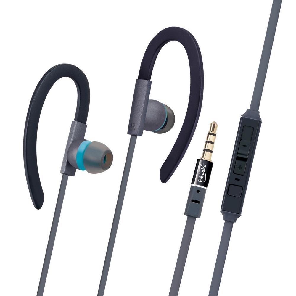 E-books S34  運動型軟矽膠音控接聽氣密耳機