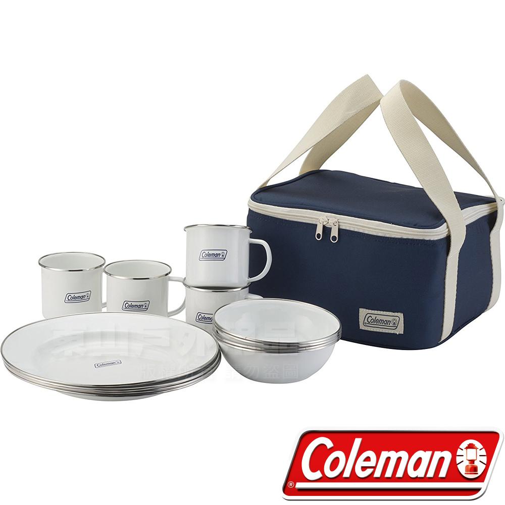Coleman CM-32362 四人份琺琅餐盤組 家庭餐具組/環保餐具碗筷/露營餐具