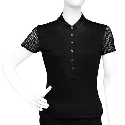 BURBERRY 黑色純棉女性短袖上衣-SML號