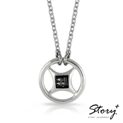 STORY故事銀飾-{恆財不斷} 鉛字吉言純銀項鍊