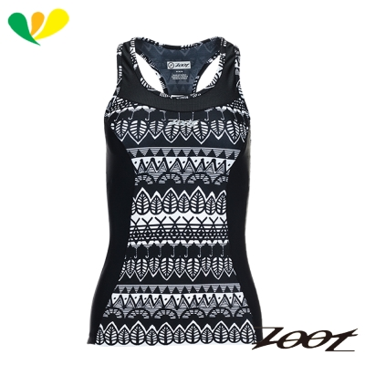 ZOOT 專業級美背式肌能鐵人上衣(女)(圖紋黑) Z1706005