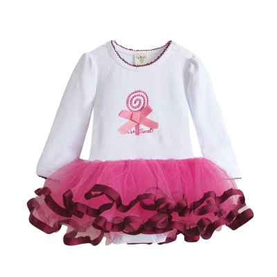 baby童衣-立體棒棒糖公主袖紗紗包屁裙-37224