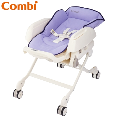 【麗嬰房】Combi Letto ST款 手動安撫餐椅搖床 薰衣草