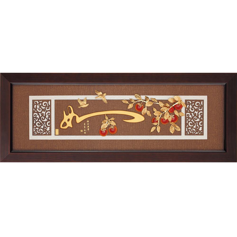開運陶源 金箔畫 純金 *古典中國風系列*【如意】...102x38cm