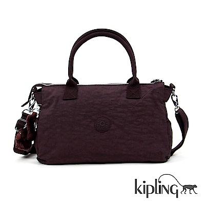 Kipling 手提包 深紫羅蘭素面-大