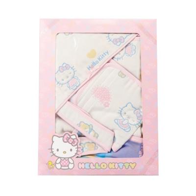 【麗嬰房】HELLO KITTY (凱蒂貓)六層紗禮盒組(包巾+小肚圍)
