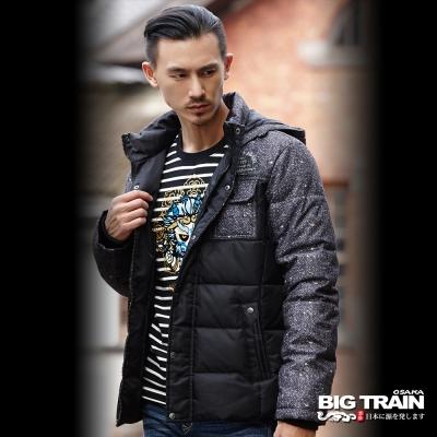 BIG TRAIN 人字紋仿毛呢外套-男-黑色