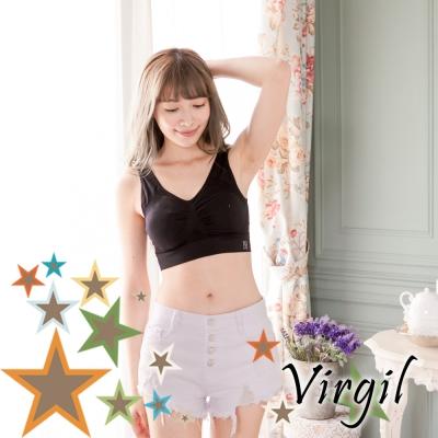 無鋼圈內衣 抓皺透氣萊卡睡眠內衣 黑 (2件組) Virgil