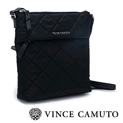 Vince Camuto 菱格尼龍布側背包-黑色