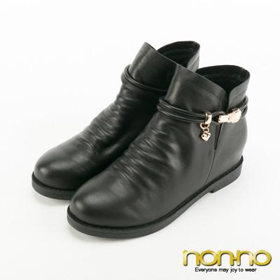 nonno 金屬皮帶扣環帥氣短靴