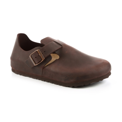 勃肯BIRKENSTOCK 066621。倫敦 扣帶休閒鞋(霧面咖啡)