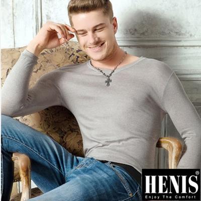 男內衣   時尚型男熱纖維彩V領長袖內衣 2件組  HENIS