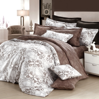 GOLDEN-TIME-歐系皇殿-精梳棉-特大四件式薄被套床包組